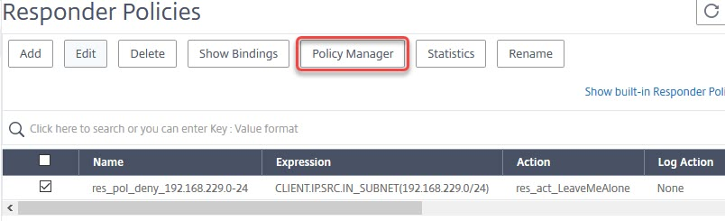 NetScaler: Binding a responder Policy